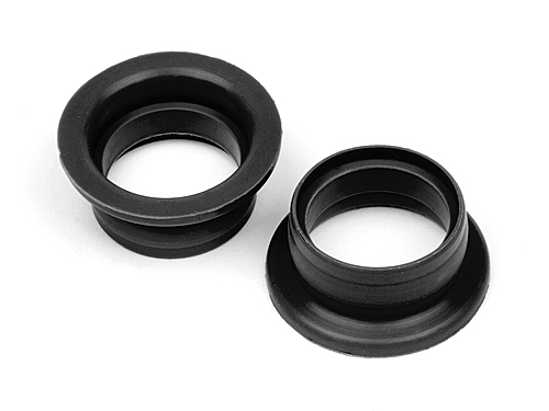 Shaped Exhaust Gasket - 21 Size 2 pcs Black For Trophy