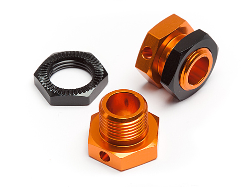 5mm Hex Wheel Adapters Trophy Buggy (Orange - Black)