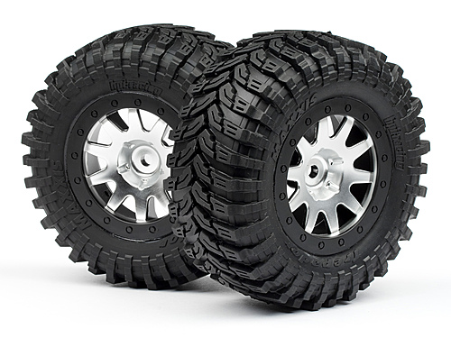 Mounted Maxxis D Tyres MK.10 Wheel (Matte Chrome 2pcs)