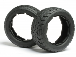 Front Tarmac Buster Tyres M Compound (170x60mm-2pcs)