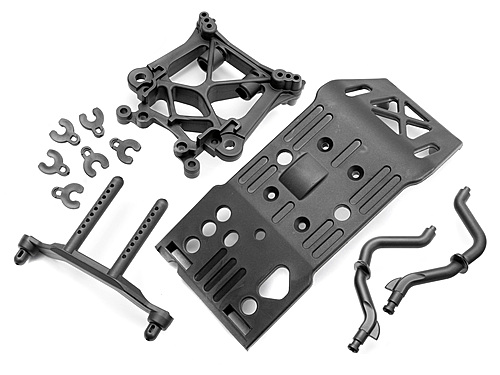 Skid Plate - Body Mount - Shock Tower Set Savage X